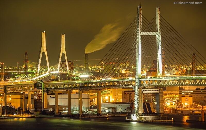 Phỏng cảnh ban đêm tỉnh Kanagawa