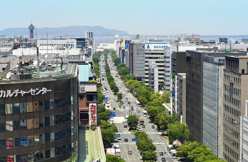 Phong cảnh thành phố Fukuoka