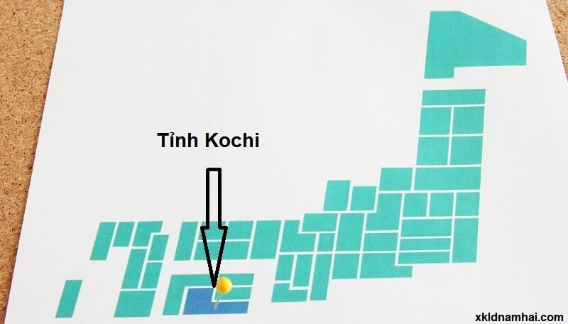 Vị trí địa lý tỉnh Kochi Nhật Bản