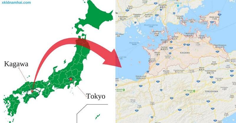 Vị trí tỉnh Kagawa Nhật Bản