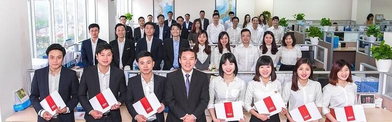 Cán bộ nhân viên công ty nhân lực TTC Việt Nam