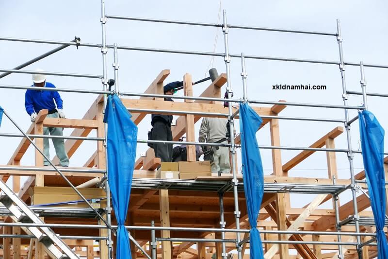 Công trường xây dựng Nhật Bản