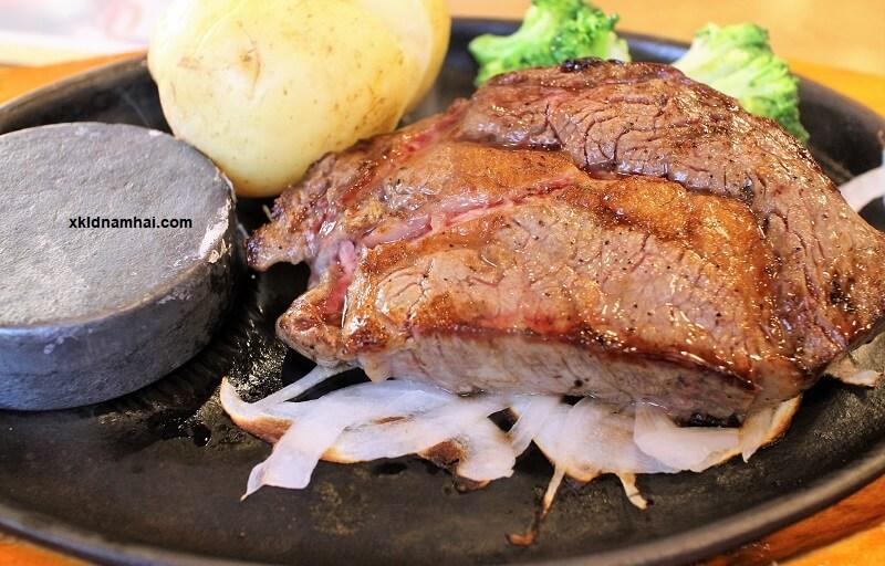 thịt bò Kobe chín
