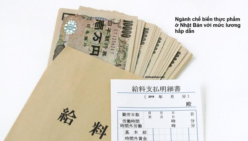 tiền lương đi xkld Nhật Bản ngành chế biến thực phẩm