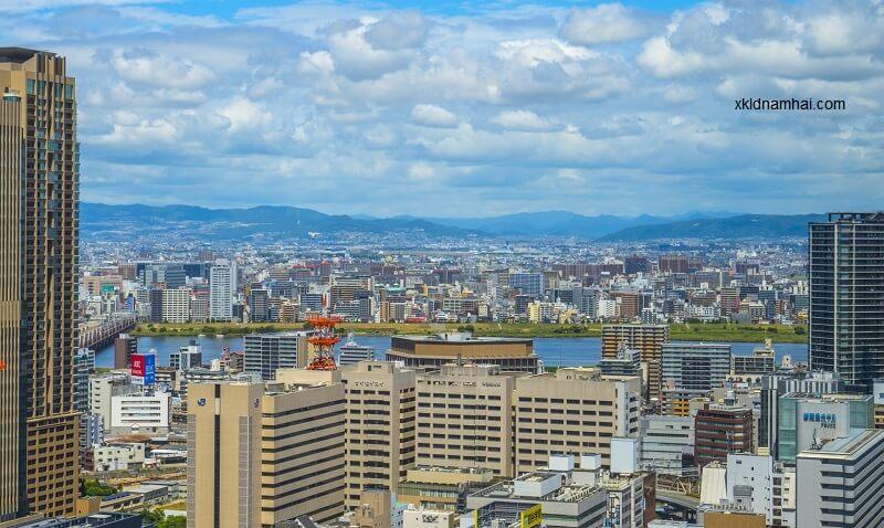 Tỉnh Osaka nhìn từ trên cao