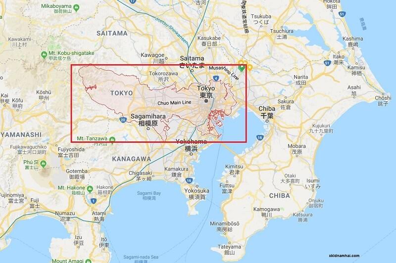 Vị trí địa lý thủ đô Tokyo