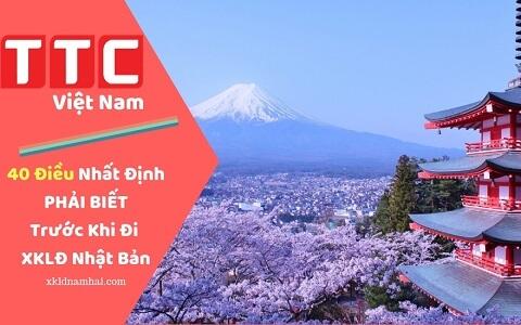 Cẩm nang XKLD Nhật Bản: 40 Điều Quan Trọng PHẢI BIẾT