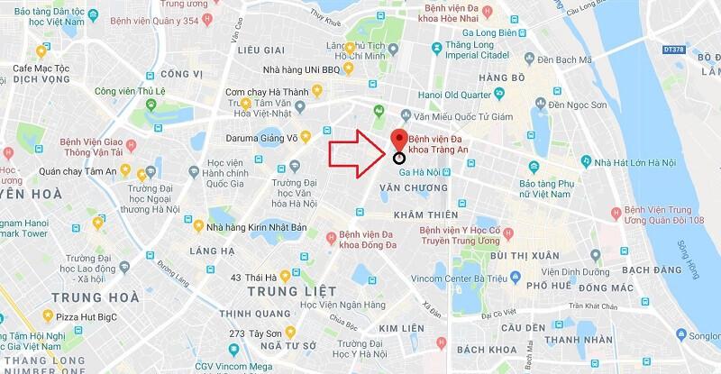Địa chỉ bệnh viện Tràng An tại Hà Nội
