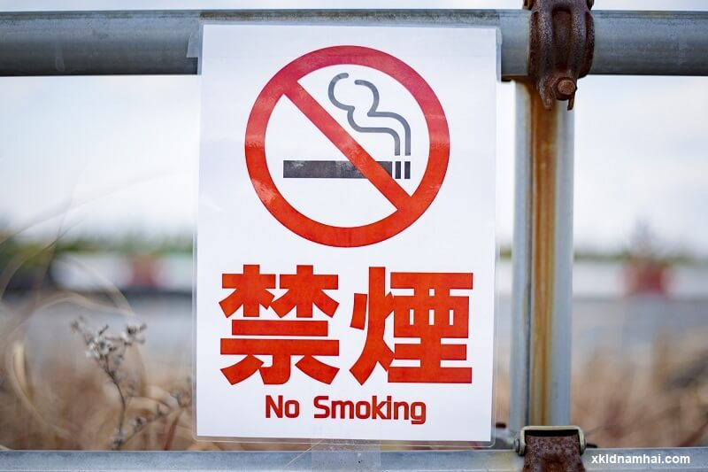 biển báo cấm hút thuốc lá ở Nhật Bản