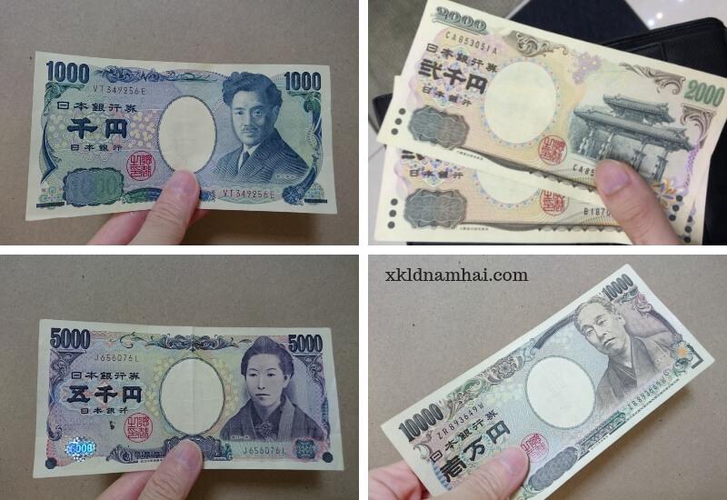 các loại tiền giấy Nhật Bản