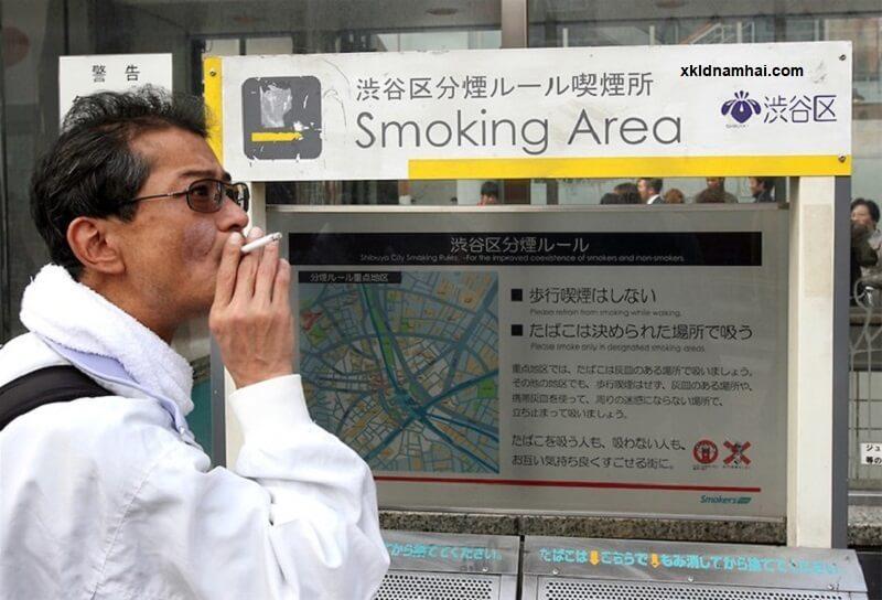hút thuốc lá ở Nhật Bản