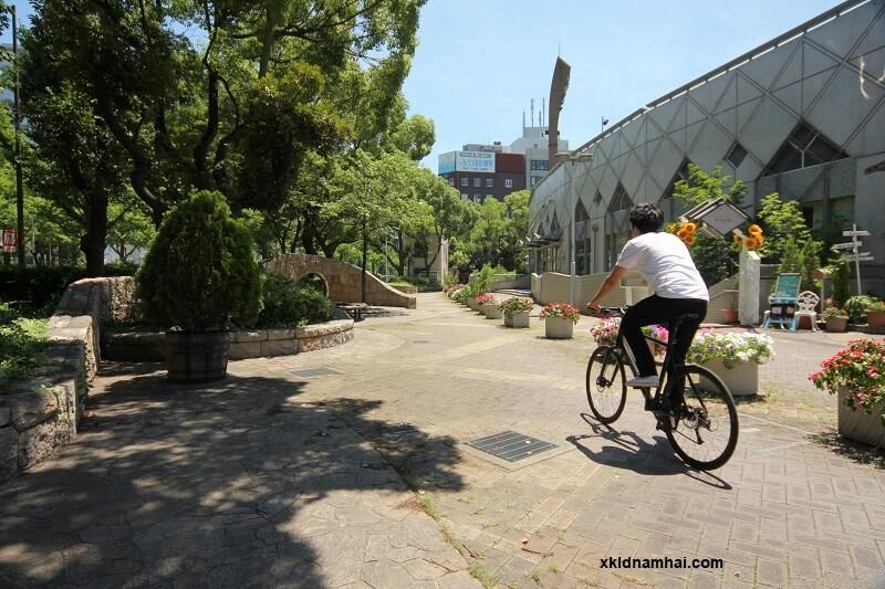 thực tập sinh sử dụng xe đạp ở Nhật Bản