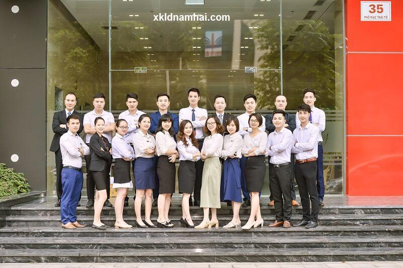 Cán bộ nhân viên công ty cổ phần nhân lực IPM Việt Nam - xkldnamhai