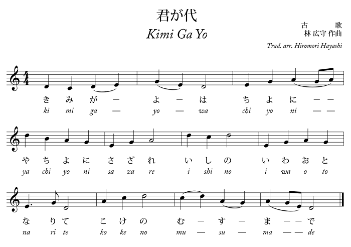 Lời bài hát quốc ca Nhật Bản
